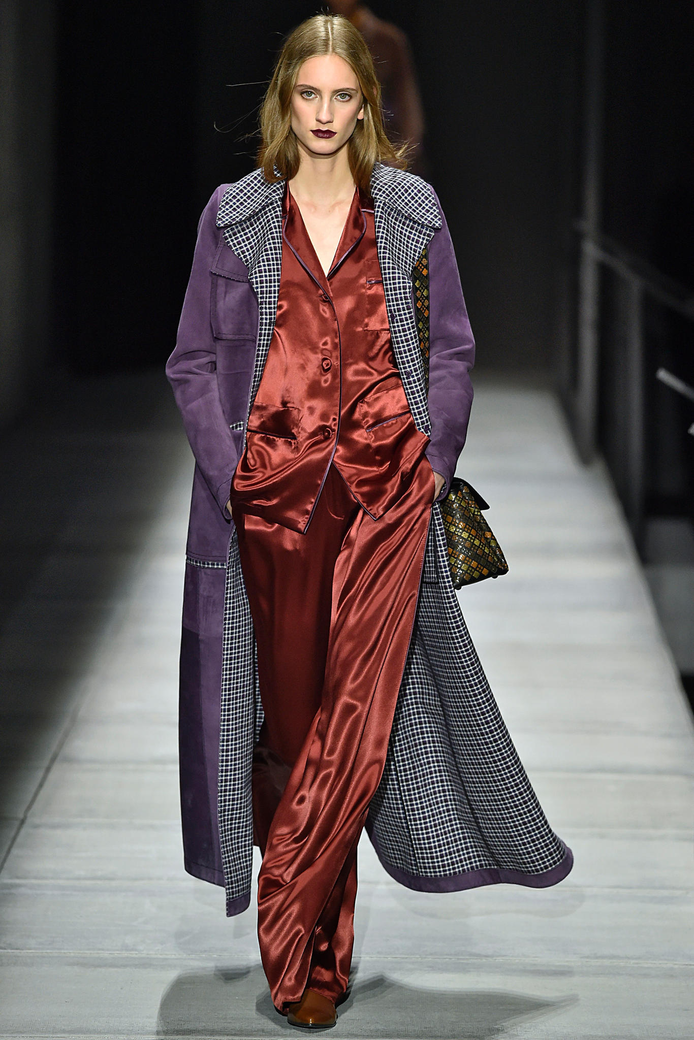 New York Fashion Week: Satinanzug