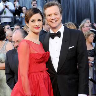Colin Firth mit seiner Ehefrau Livia Giuggioli