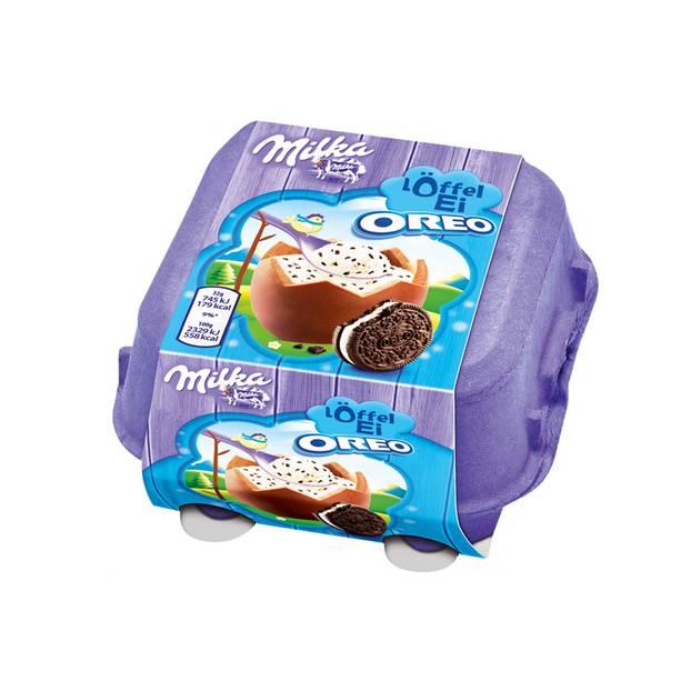 Schokoladeneier im Test: Milka Löffel-Ei Oreo