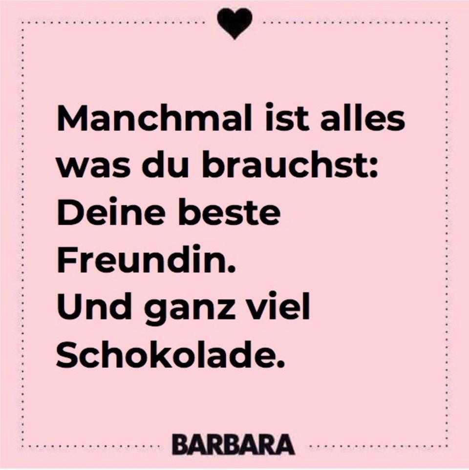 Spruch Freundin Freundschaft: Schokolade