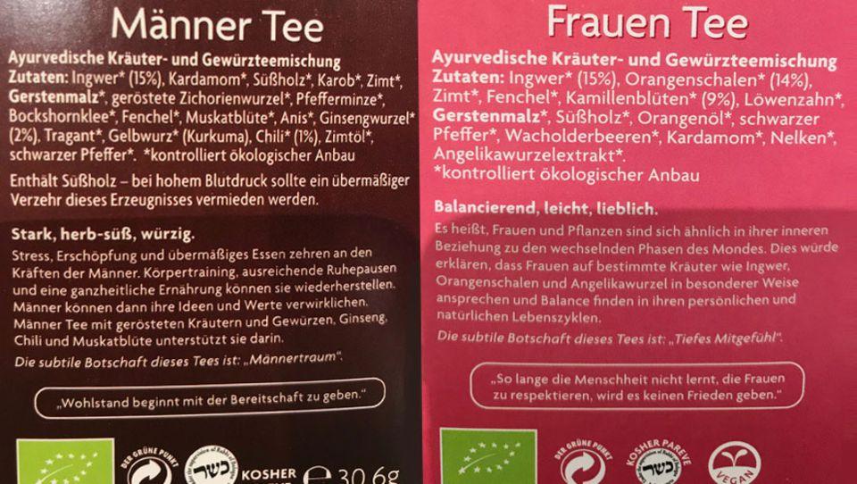 Sexismus: Männer und Frauen Tee von Yogitea