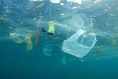 Plastikmüll treibt im Ozean