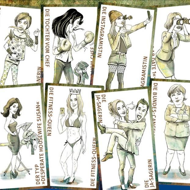 Frauen-Charaktere, Illustrationen