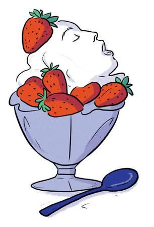 Wie komme ich zum Orgasmus: Illustration Schale mit Erdbeeren