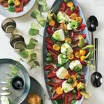 Paprika-Physalis-Salat mit Mozzarella