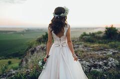 Frau im Brautkleid