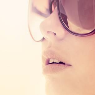Sonnenbrand auf den Lippen