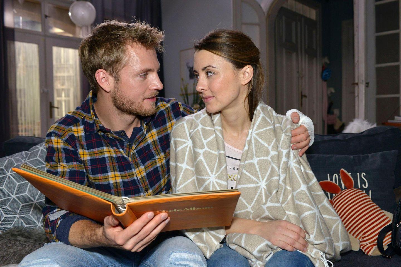 Die GZSZ-Stars Niklas Osterloh (Paul) und Luisa Wietzorek (Anneke/Miriam)