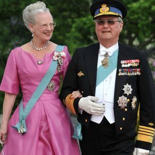 Prinz Henrik und Königin Margarethe bei einem offiziellen Anlass