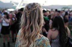 Glitter Roots auf dem Coachella