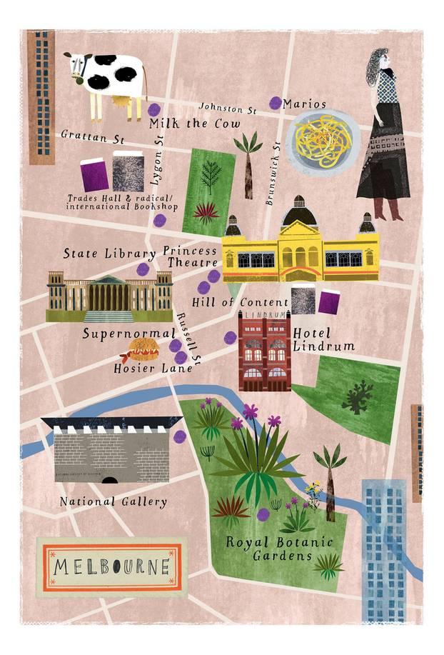 Insider-Tipps Melbourne: Illustration von Melbourne