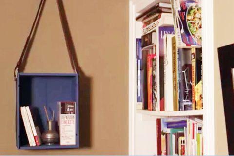 Hängeregal selber machen: Regal hängt an der Wand