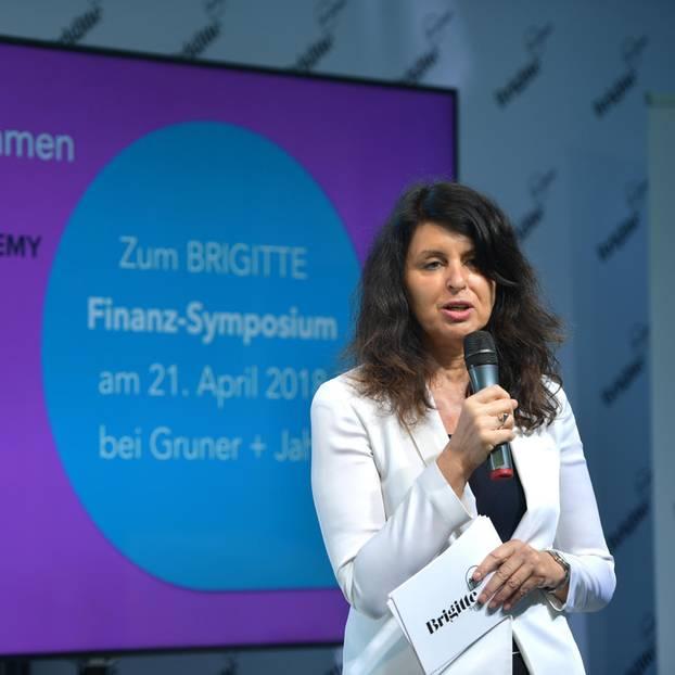 """""""Finanzielle Unabhängigkeit ist der Schlüssel zur Gleichberechtigung"""" - BRIGITTE-Chefredakteurin Brigitte Huber."""