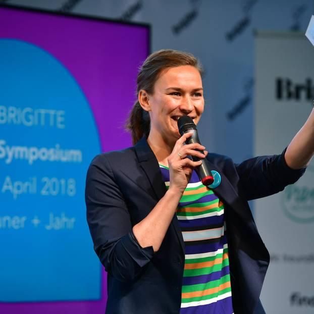 Anna van Koetsveld, Leiterin der BRIGITTE Academy, eröffnete die Veranstaltung