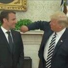 Trump, Macron und eine komische Geste