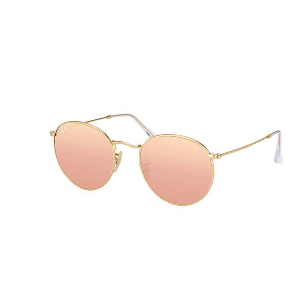 Voll angesagt: Sonnenbrillen mit verspiegelten und runden Gläsern. Dieses Modell ist erhältlich über Misterspex, um 146 Euro.
