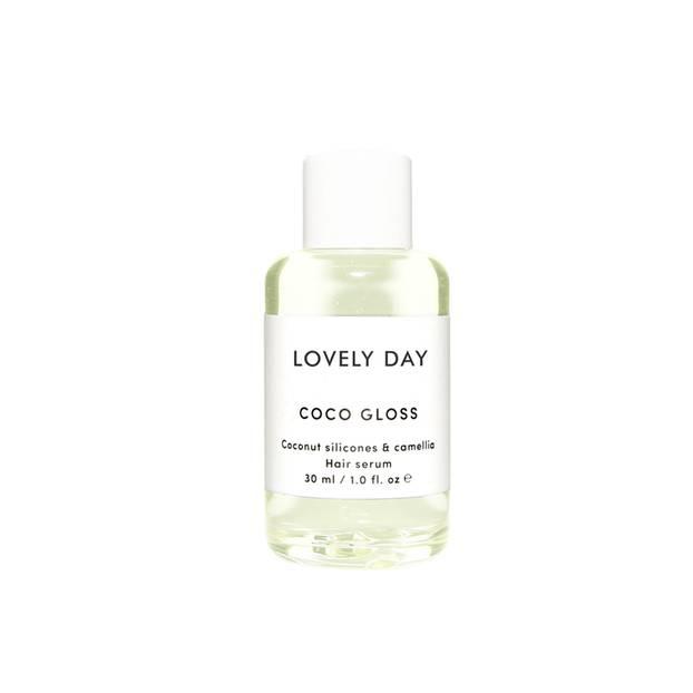 """Pflegendes und nährendes Hair Serum mit dem Namen """"Coco Gloss"""" von Lovely Day, um 18 Euro."""