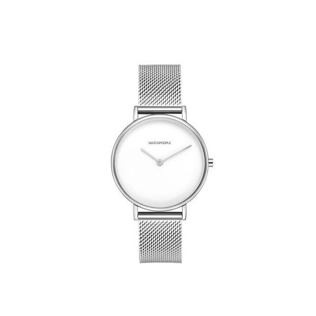 Die Zeit immer im Blick, mit der silbernen Armbanduhr von Watchpeople, um 99 Euro.