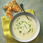 Fenchelcreme-Suppe mit Edelpilz-Toast