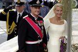 Norwegen: Kronprinz Haakon und Mette-Marit Tjessem Høiby (25. August 2001)