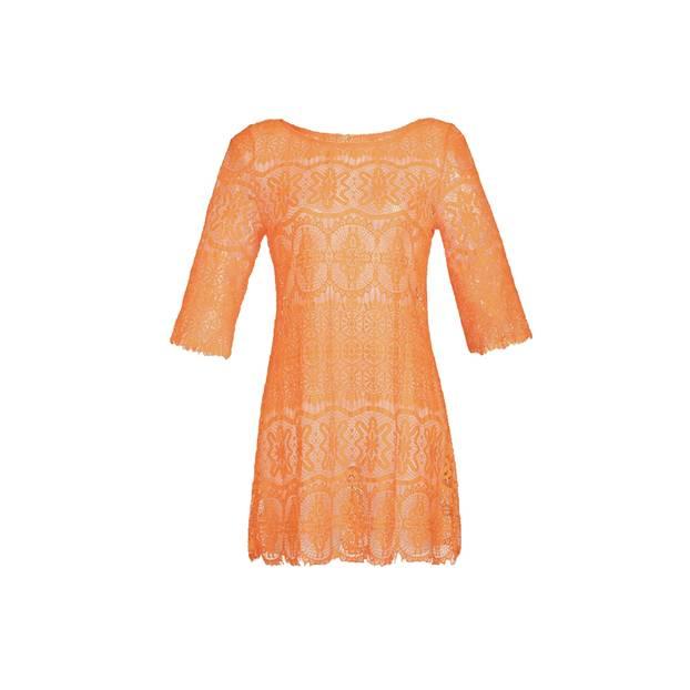Luftiges Strandkleid in Orange. Über About You, um 60 Euro.