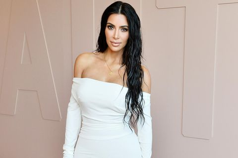 Kim Kardashian in sexy white dress
