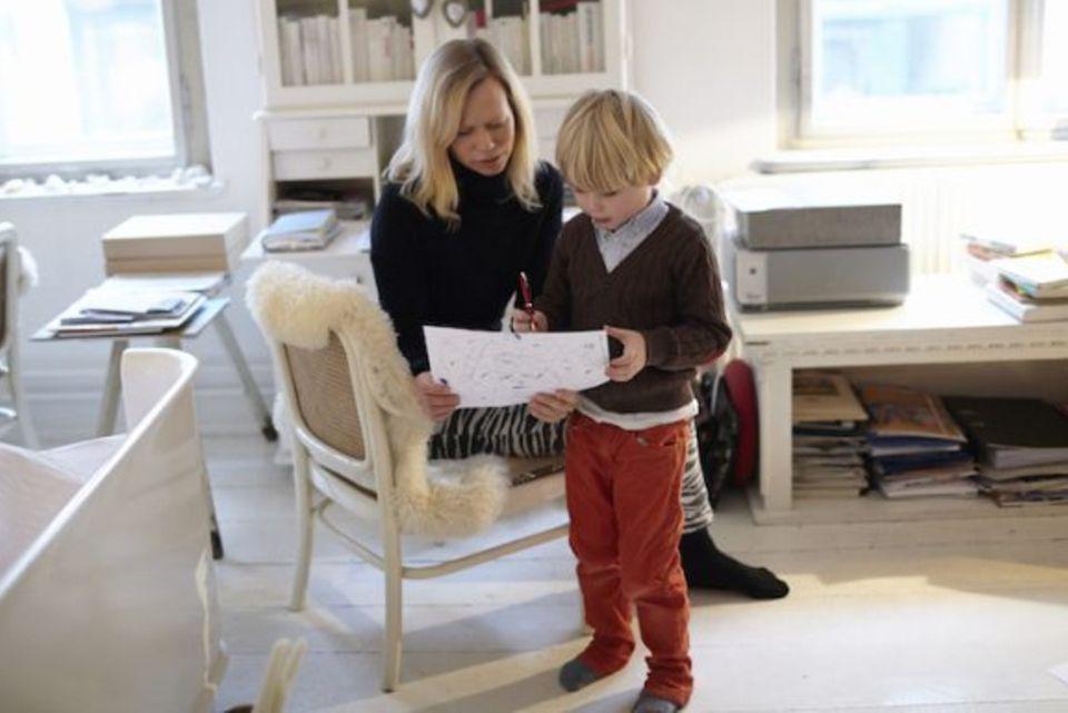Bloggerin mit Sohn