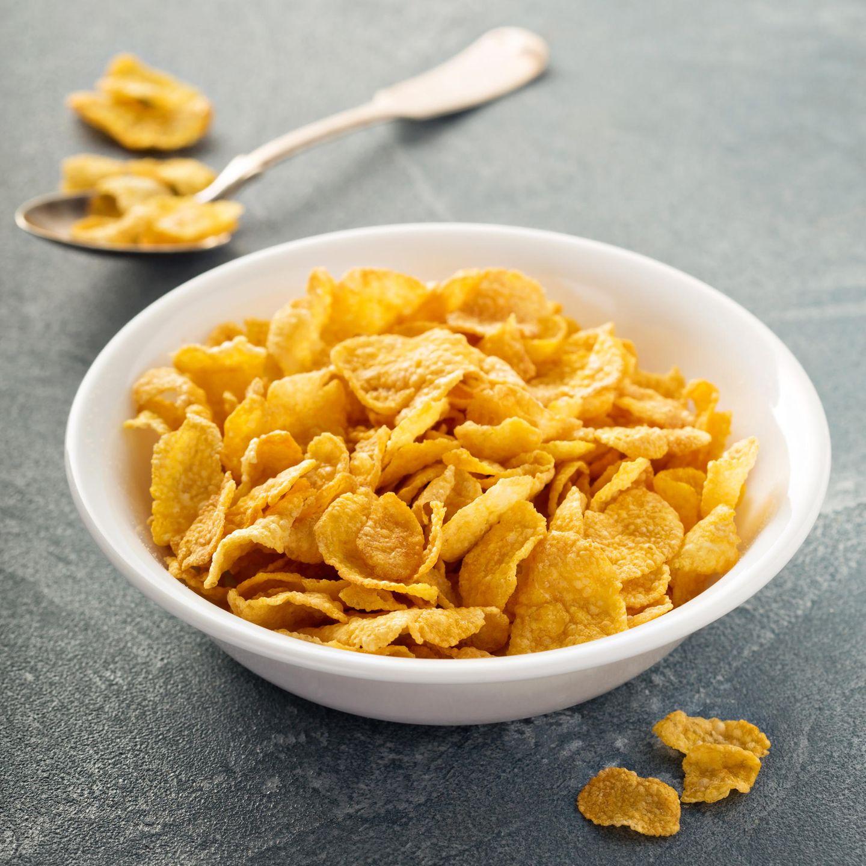 Eine Schüssel Cornflakes
