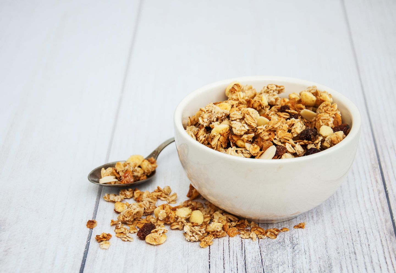 Granola-Zubereitung