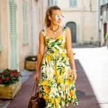 Streetstyle mit Blumenkleid