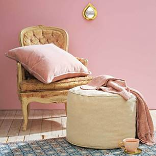 Sitzkissen selber machen: rosa Pouf