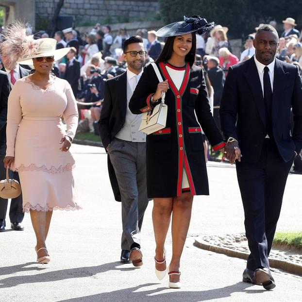 Hollywood in Windsor: Unter den ersten Gäste waren US-Star Oprah Winfrey sowie Schauspieler Idris Elba.