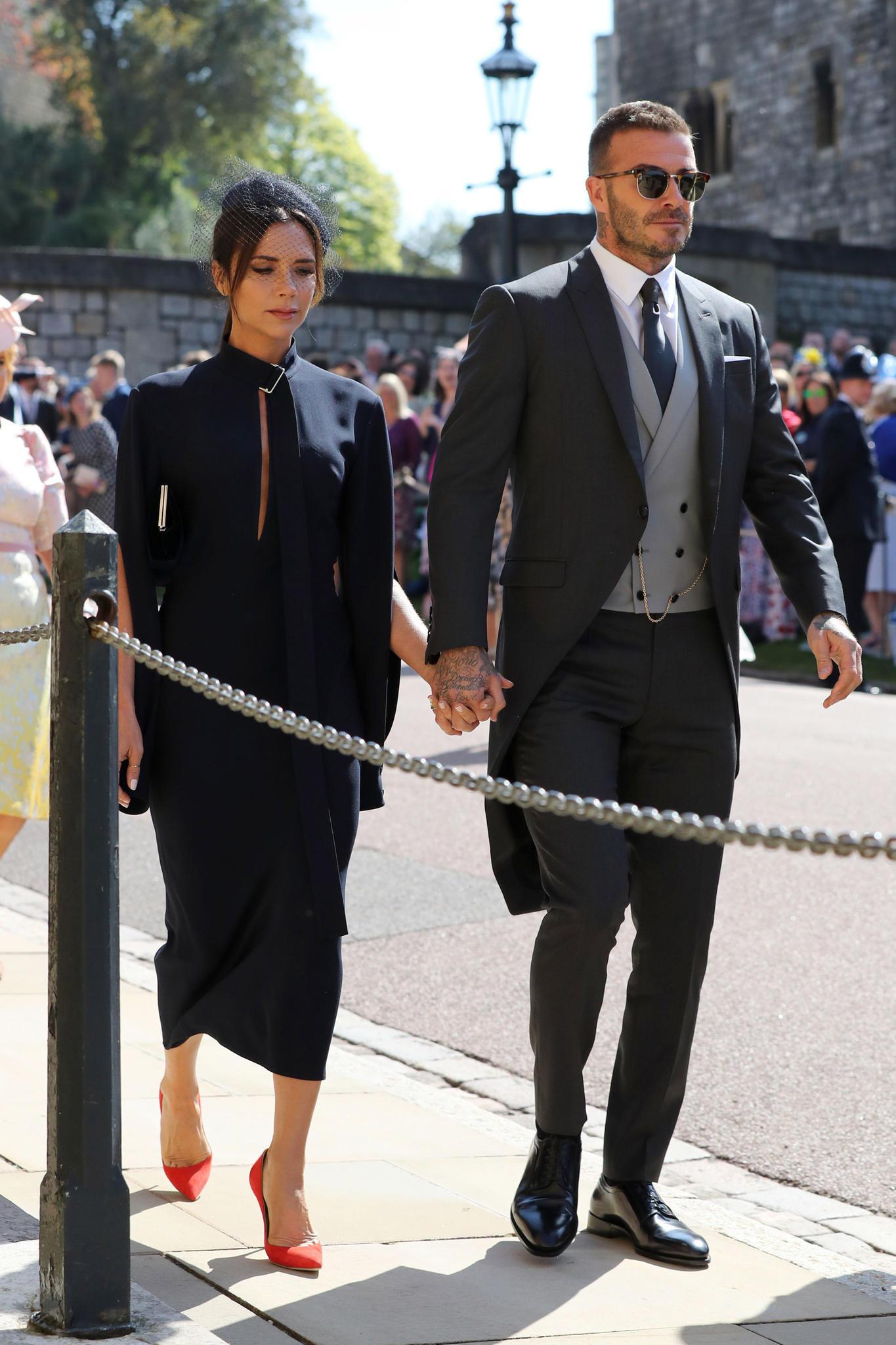 Wie schon 2011 bei der Hochzeit von William und Kate, so sind David und Victoria Beckham auch diesmal wieder unter den Gästen.