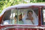 Meghan Markle und ihre Mutter Doria Ragland machen sich ebenfalls auf den Weg in die Kapelle.