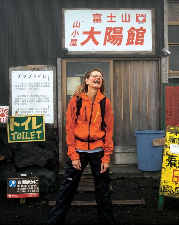 Japan: BRIGITTE-Reporterin Meike Dinklage beim Aufstieg auf den Fuji