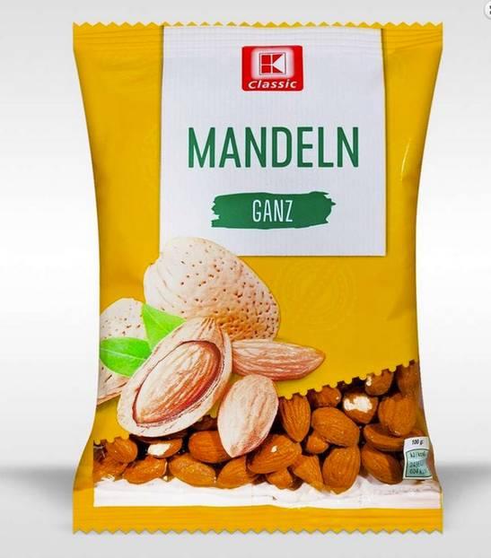 Rückruf: Salmonellen in Mandeln von Kaufland