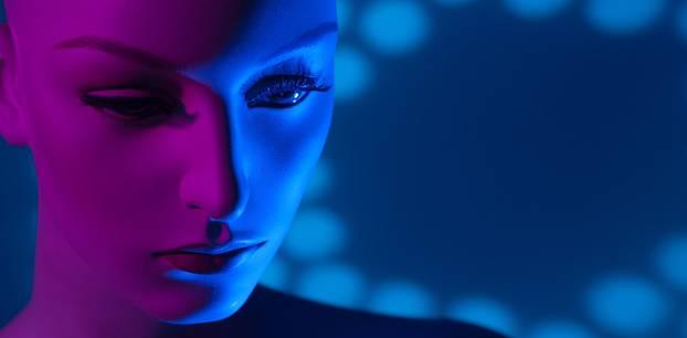 Sexroboter: Gesicht einer Roboter-Puppe