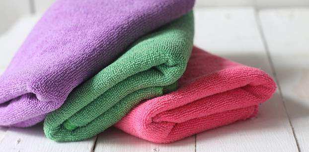 Putzlappen waschen: Mikrofasertücher gewaschen
