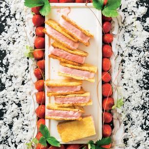Erdbeer-Eis-Sandwich