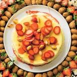 Mandel-Käsekuchen mit Erdbeeren