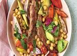 Lammfilets mit Kichererbsen-Salat