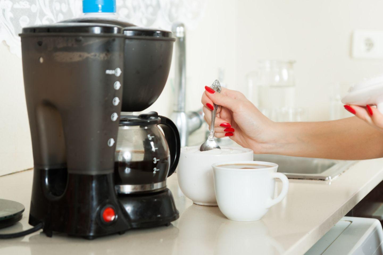 Kaffeemaschine entkalken: Kaffeemaschine in der Küche