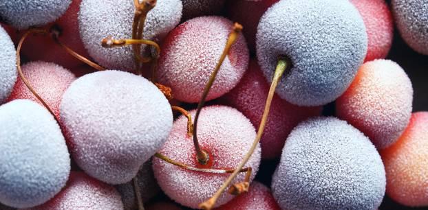 Kirschen einfrieren: Gefrorene Kirschen