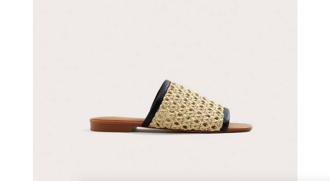 Sandalen im Design-MIx. Von Mango, erhältlich für circa 50 Euro.