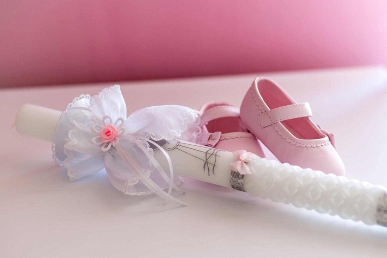Taufkerze selber machen: Taufkerze für Mädchen