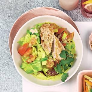 Spitzkohl-Mandel-Curry mit Hähnchen