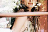 Romantik: Model mit Baumwolltop mit einer Segelleine als Träger