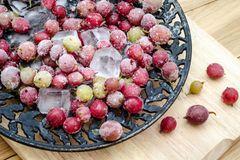 Stachelbeeren einfrieren: Gefrorene Stachelbeeren