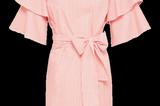 Gestreiftes Kleid mit Volantärmeln von EDITED