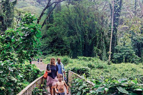 Hawaii Reisetipps: BRIGITTE-Autorin mit ihrer Familie unterwegs im Duschungel